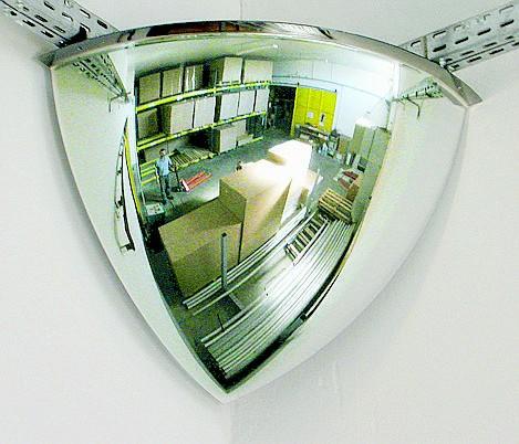 Überwachungsspiegel 1/8-kugelförmig Vialux®, in PMMA®2-Qualität, verschieden Größen