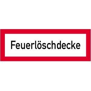 Brandschutzschild: Feuerlöschdecke