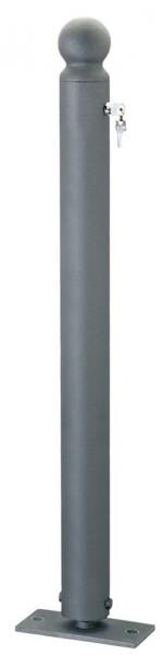 Stahlpoller CITYTREND, Ø76mm, umlegbar, mit Sicherheitsschloss, verschiedene Kopfvarianten