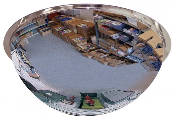 Überwachungsspiegel 1/2-kugelförmig Vialux®, in PMMA®4-Qualität, Ø 450 mm
