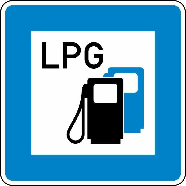Tankstelle mit Autogas Nr. 365-53 nach STVO