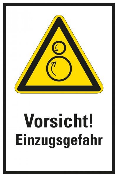 Warnzeichen / Warnung vor gegenläufigen Rollen / mit Text, für Bodenmarkierung (indoor), ASR 1.3