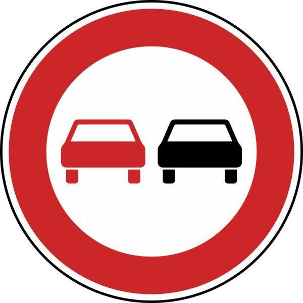 Überholverbot für Kraftfahrzeuge aller Art Nr. 276 nach STVO