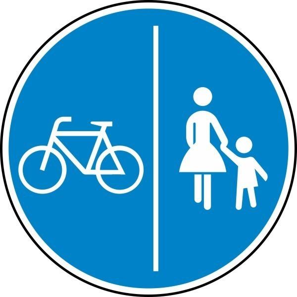 Getrennter Rad- und Gehweg, Radweg links Nr. 241-30 nach STVO