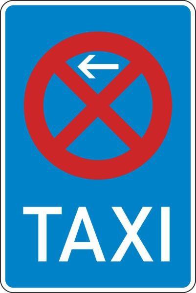 Taxenstand Anfang (Rechtsaufstellung) Nr. 229-10 nach STVO
