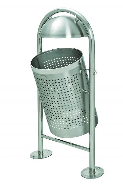 Abfallbehälter, aus Edelstahl, HxBxT 1150x580x360 mm, z. Audübeln m. Bodenplatten