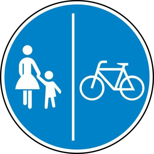 Getrennter Rad- und Gehweg, Radweg rechts Nr. 241-31 nach STVO