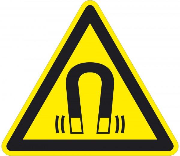 Warnzeichen / Warnung vor magnetischem Feld / für Bodenmarkierung (indoor), ASR 1.3