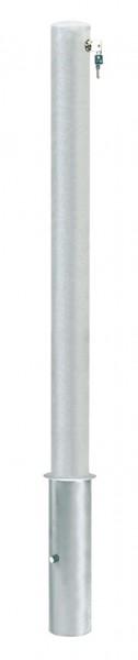 Absperrpfosten CITIRING, Ø76mm, herausnehmbar, abschließbar mit Sicherheitsschloß, zum Einbetonieren