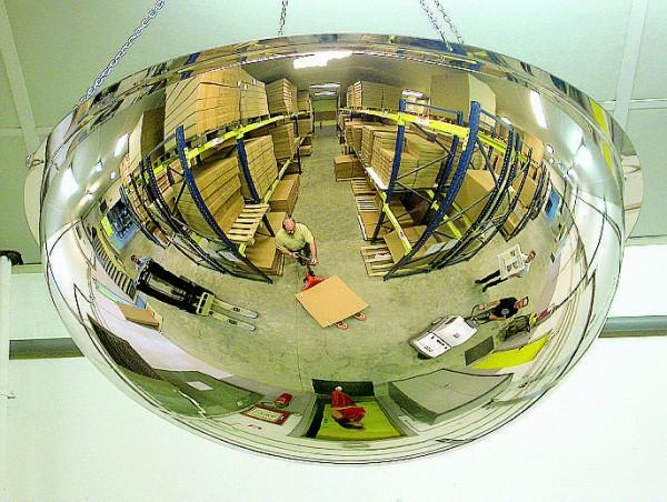 Sicherheitsspiegel 1/2-kugelförmig Vialux®, in PMMA®4-Qualität, verschiedene Größen