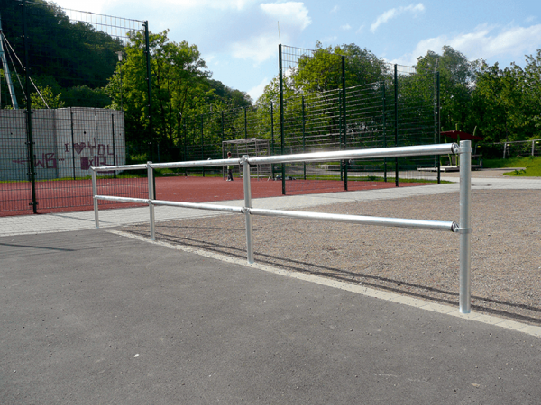 Verkehrsschutzgitter-System - Standpfosten, Ø 60 mm, zum Einbetonieren