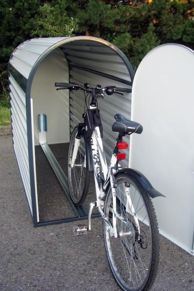 Fahrradgarage BIKEBOX 3, Stahl-verzinkt, einfach Aufstellen und im Boden verankern - fertig