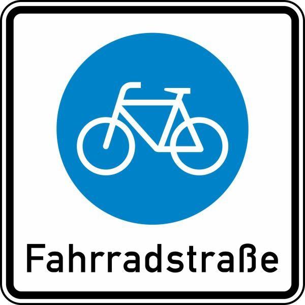 Beginn einer Fahrradstraße Nr. 244.1 nach STVO
