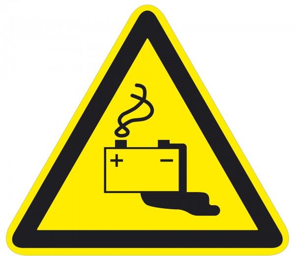 Warnzeichen / durch Aufladen von Batterien / für Bodenmarkierung (indoor), PVC-antirustch, ASR 1.3