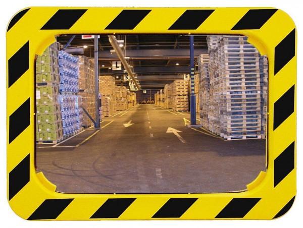 Spiegel mit gelb-schwarzem Rahmen Vialux®, in P.A.S.®-Qualität, 600x400 mm