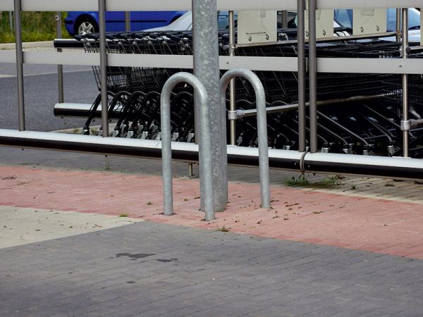 Anlehn - Absperrbügel, Universalbügel, Ø 76 mm, Breite 400 mm, zum Einbetonieren