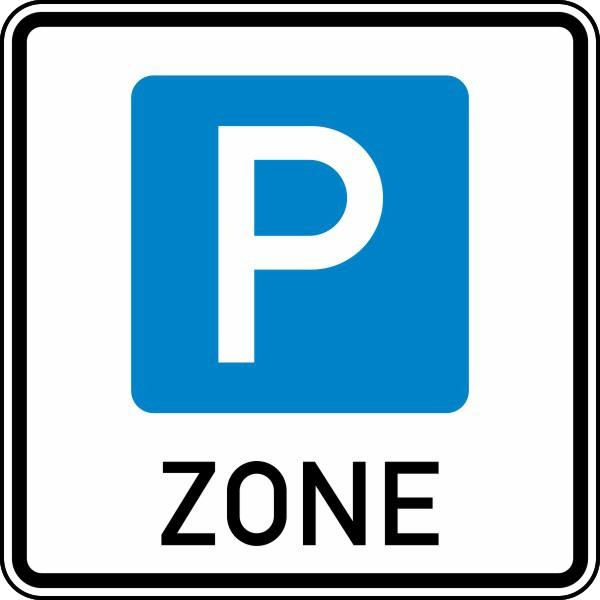 Parkraumbewirtschaftungszone doppelseitig Nr. 314.1-40 nach STVO