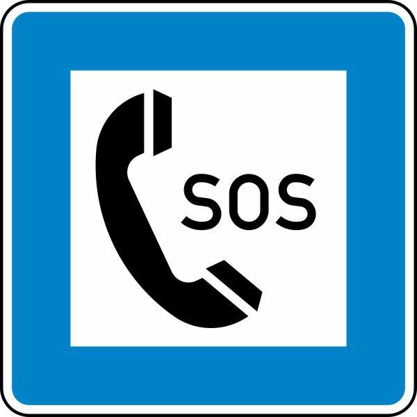 Notrufsäule Nr. 365-51 nach STVO