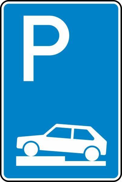 Parken auf Gehwegen Nr. 315-70 nach STVO