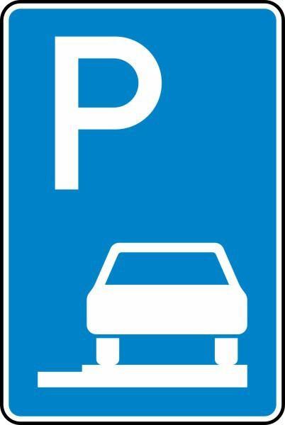 Parken auf Gehwegen Nr. 315-65 nach STVO