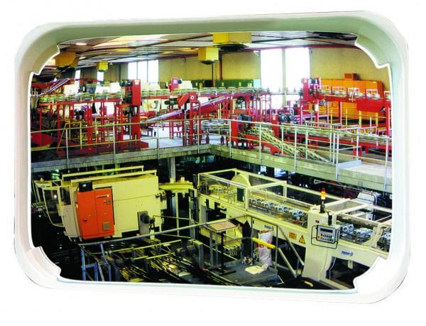 Mehrzweckspiegel mit weißem Rahmen Vialux®, in Polymir®-Qualität, 600 x 400 mm