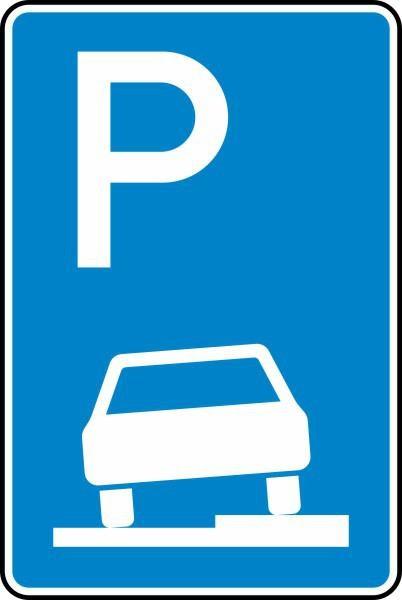 Parken auf Gehwegen Nr. 315-55 nach STVO