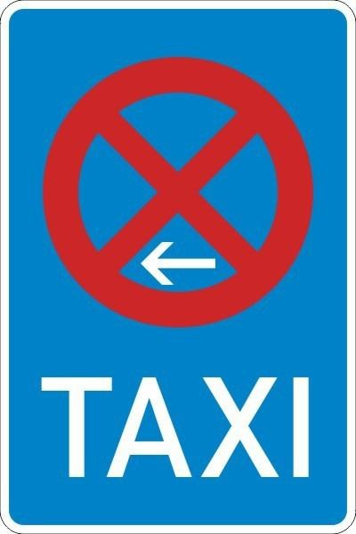 Taxenstand Ende (Linksaufstellung) Nr. 229-11 nach STVO