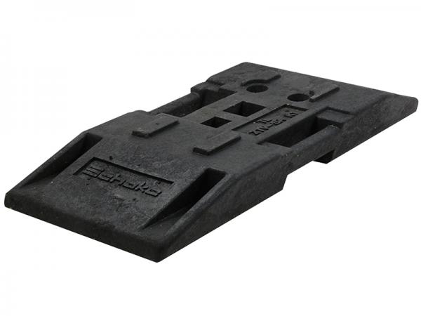 TL Fußplatte nach K1 aus Kunststoffrecycling, 30 kg