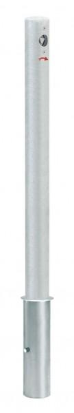 Absperrpfosten CITIRING, Ø76mm, herausnehmbar, abschließbar mit Feuerwehrdreikant, zum Einbetonieren