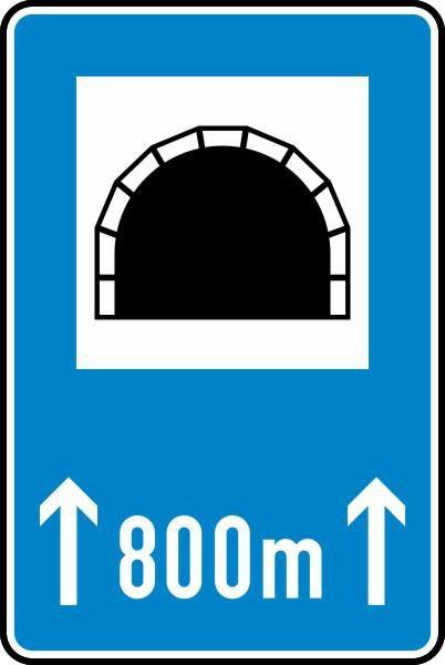 Tunnel mit Längenangabe Nr. 327-50 nach STVO