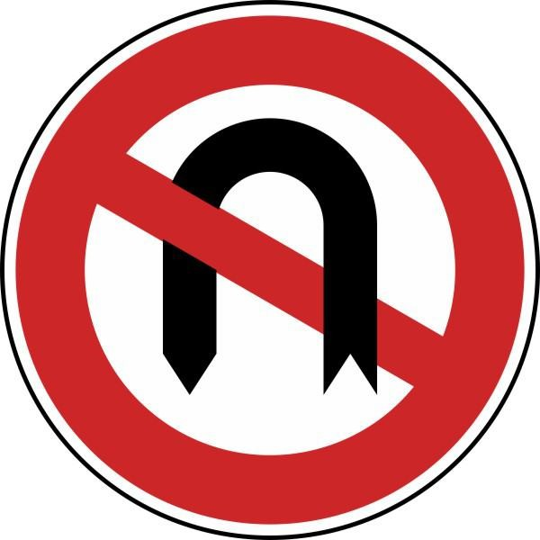 Verbot des Wendens Nr. 272 nach STVO