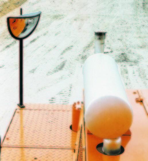 Spiegel für Kompressoren Vialux®, in P.A.S,®-Qualität, 440x75x220 mm