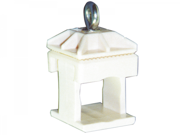 Schilderklemme aus Kunststoff, für 40x40 mm und Ø 42 mm