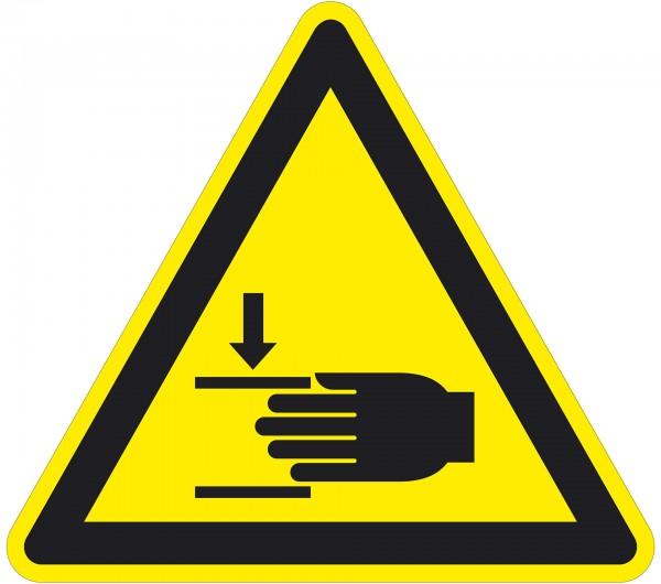 Warnzeichen / Warnung vor Handverletzungen / für Bodenmarkierung (indoor), ASR 1.3