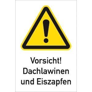 Vorsicht! Dachlawinen und Eiszapfen, Alu, 45x30 cm