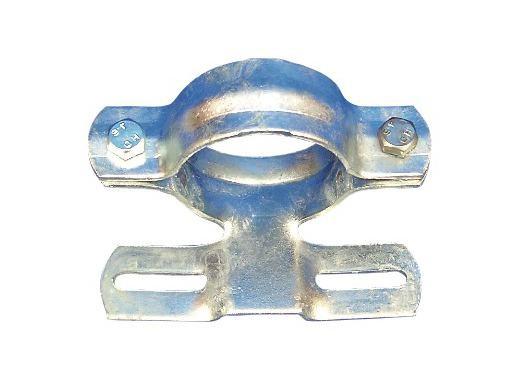 Rohrschelle aus Stahl, feuerverzinkt, Ø 60 mm, für Flach-VZ
