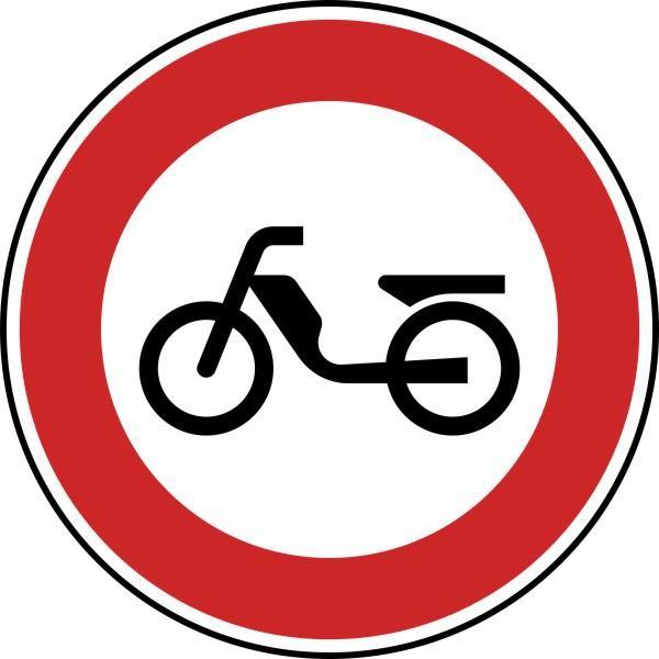 Verbot für Mofas Nr. 257-50 nach STVO