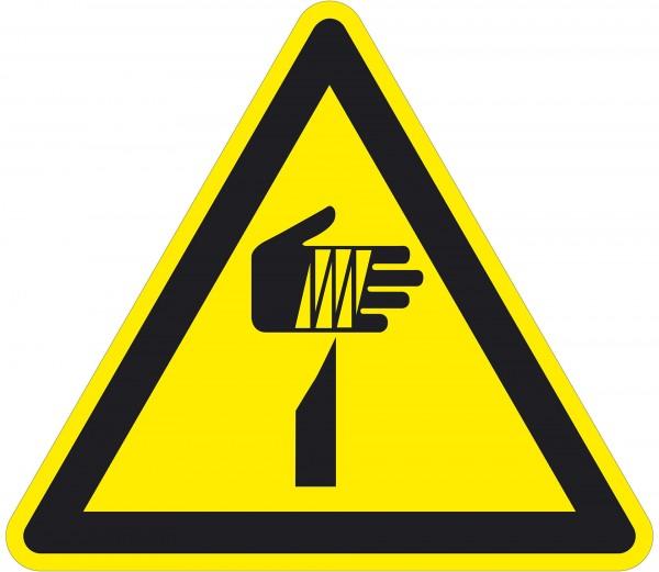 Warnzeichen / spitzer Gegenstand / für Bodenmarkierung (indoor), PVC-antirustch, ASR 1.3