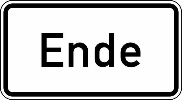 Ende Nr. 1012-31 nach STVO