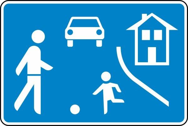Verkehrsberuhigter Bereich doppelseitig Nr. 325.1-40 nach STVO