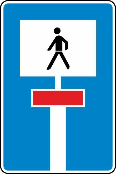 Für Fußgänger durchlässige Sackgasse Nr. 357-51 nach STVO