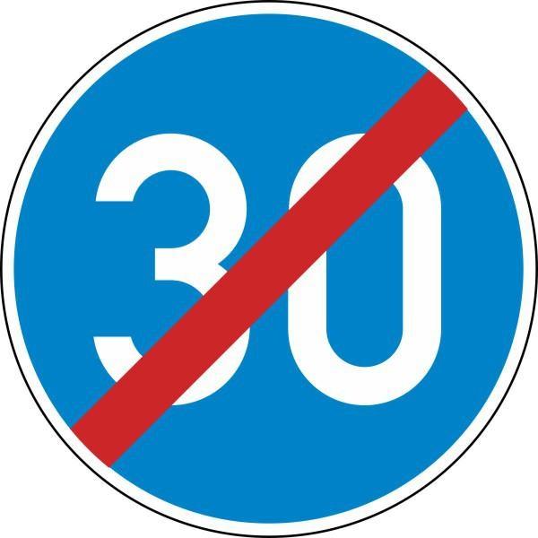 Ende der vorgeschriebenen Mindestgeschwindigkeit Nr. 279 nach STVO