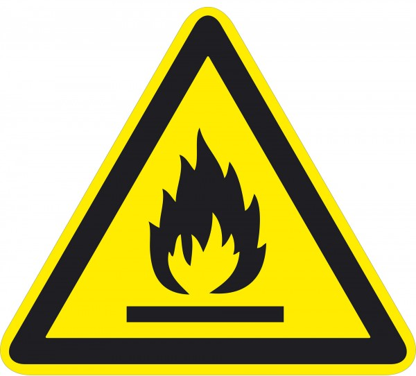 Warnzeichen / Warnung vor feuergefährlichen Stoffen / für Bodenmarkierung (outdoor), ASR 1.3