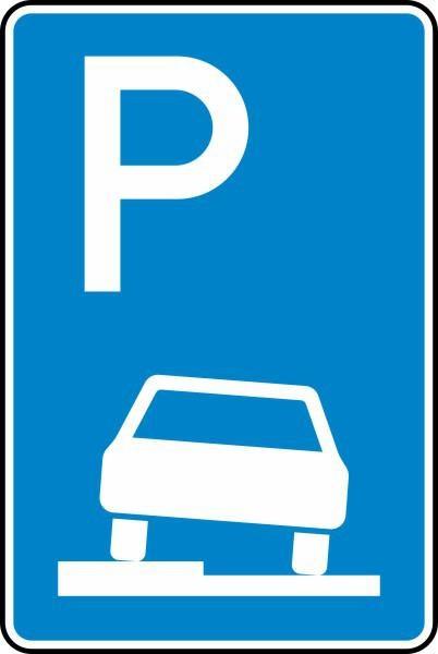 Parken auf Gehwegen Nr. 315-50 nach STVO