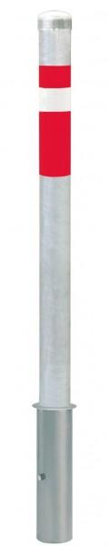 Absperrpfosten CENTRO, Ø76mm, herausnehmbar, ohne Verschluß, zum Einbetonieren