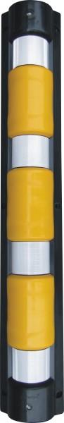 Eckschutzschiene aus Kunststoff, 900 mm lang, mit reflektierenden Streifen
