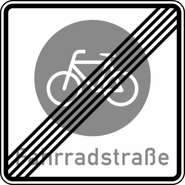 Ende einer Fahrradstraße Nr. 244.2 nach STVO