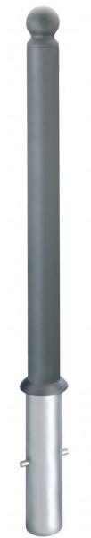 Stahlpoller CITYTREND, Ø76mm, herausnehmbar, ohne Schloss, verschiedene Kopfvarianten