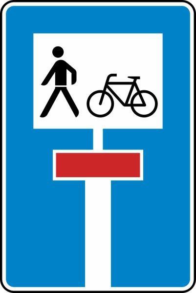Für Radverkehr und Fußgänger durchlässige Sackgasse Nr. 357-50 nach STVO