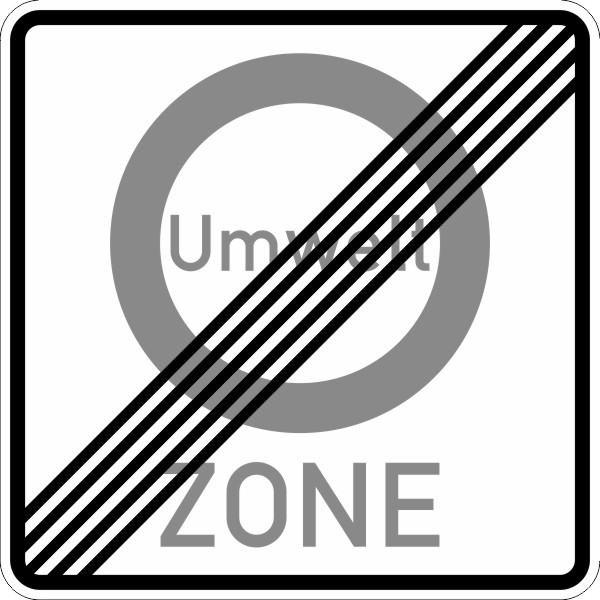 Ende einer Verkehrsverbotszone zur Minderung schädlicher Luftverunreinigungen Nr. 270.2 nach STVO
